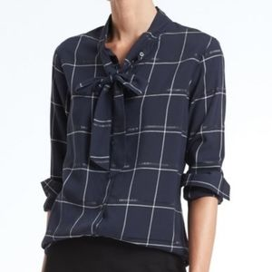 Banana Republic Dillon Plaid Button Down Top XSP
